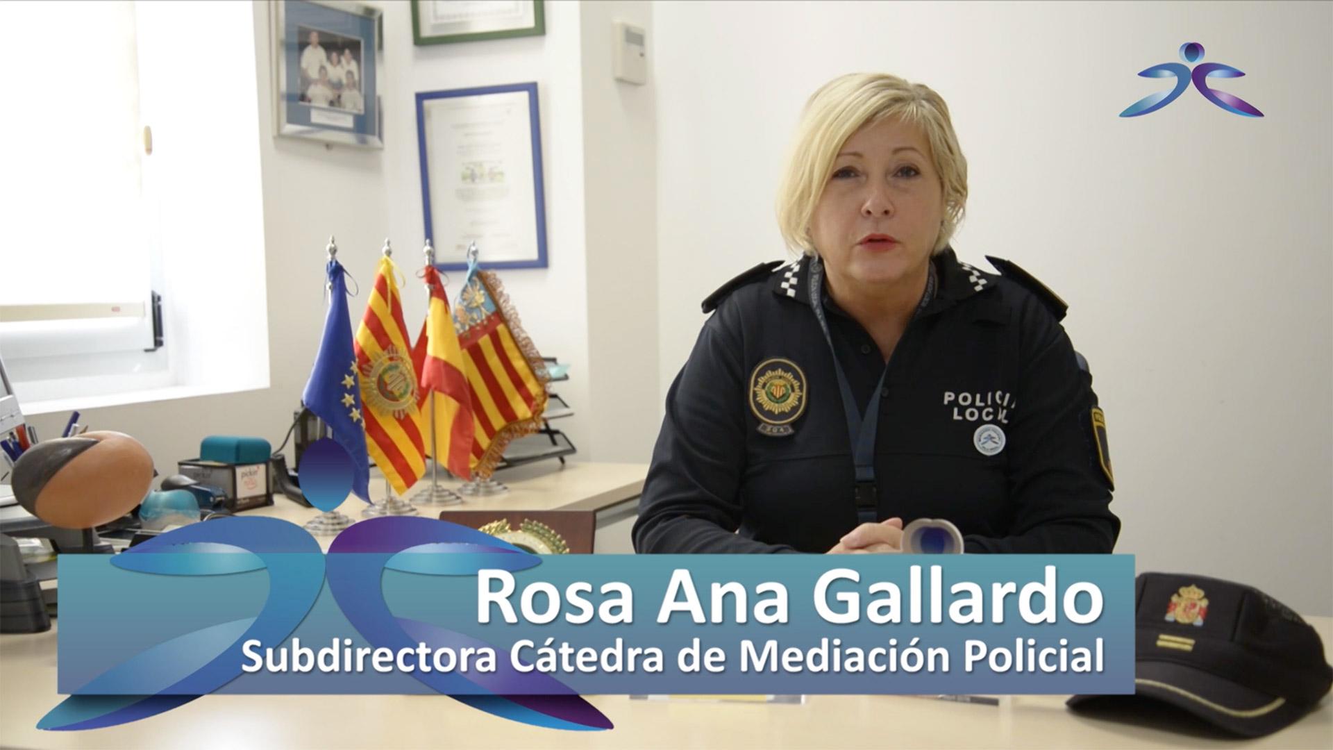 Rosa Ana Gallardo Campos, subdirectora de la Cátedra de Mediación Policial