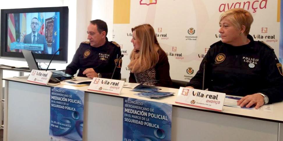 Rueda de prensa presentación III Congreso de Mediación Policial