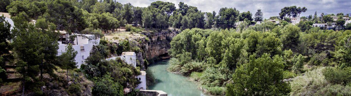 El rio Mijares a su paso por el Termet (Vila-real)