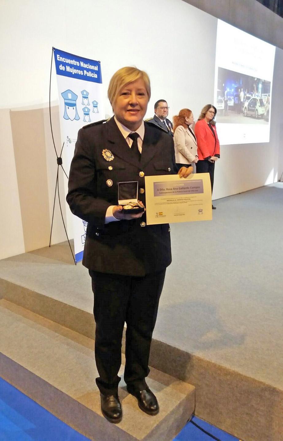 Rosana Gallardo, Medalla al Mérito por la labor en mediación policial